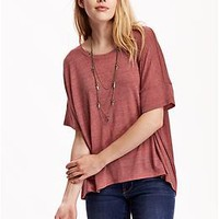 Women's Oversized Drop-Shoulder Tees