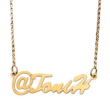 Women's Argento Vivo Personalized Name Pendant Necklace