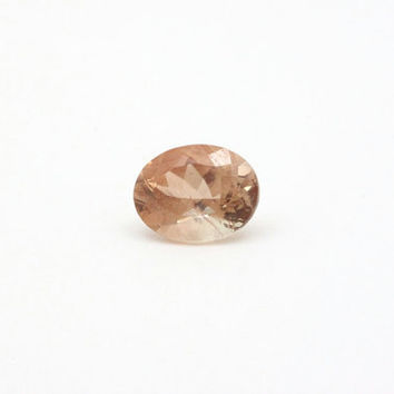 Rose Pink Oregon Sunstone Gem - Loose Cut Gemstone Oregon Sunstone - Oval Pink Schiller Oregon Sunstone Gemstone