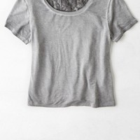 AEO Women's Lace Back T-shirt