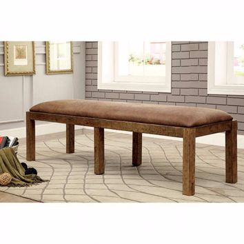 Gianna Transitional Bench, Rustic Pine