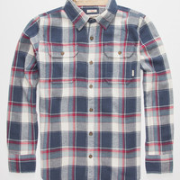 Burton Brighton Boys Flannel Shirt Blue  In Sizes