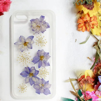 Flying Purple Flower Phone Case