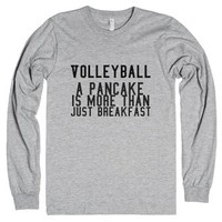 "Volleyball ""Pancakes""-Unisex Heather Grey T-Shirt"