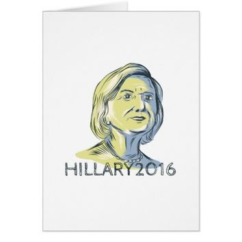 Hillary 2016 President Drawing Card