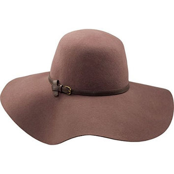 Goorin Bros. Women's Mia Wide Brim Floppy Hat with Faux Leather Band, Camel, Medium