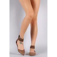 Wild Diva Lounge Pointy Toe Elasticized Cuff Ballet Flat