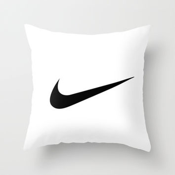 nike Throw Pillow by Max Jones | Society6