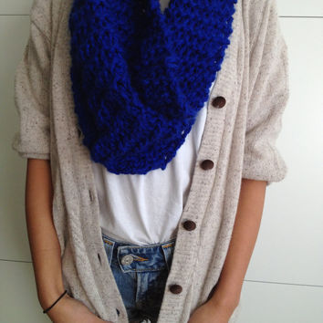 Knitted Chunky Snood Scarf Free Shipping
