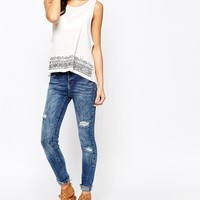 New Look Ripped Skinny Jeans