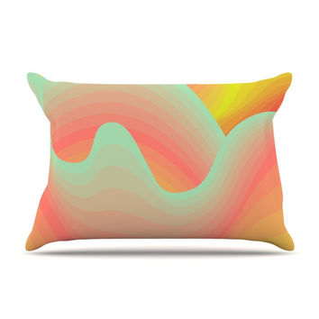 "Akwaflorell ""Way of the Waves"" Pillow Case"