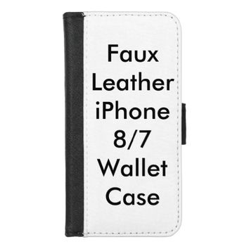 Personalized Faux Leather iPhone 8/7 Wallet Case