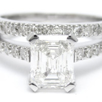 140ctw EMERALD cut novo inspired diamond by ninaellejewels on Etsy