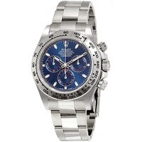 Rolex Cosmograph Daytona Blue Dial 18K White Gold Oyster Mens Watch 116509BLSO