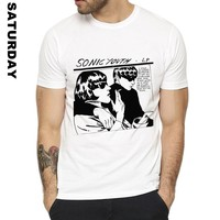 Punk Rock band Sonic Youth Design Funny T Shirt for Men and Women,Unisex Breathable Graphic Premium T-Shirt Men's Streewear