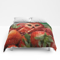 Owl_Strawberry Comforters by NurzieNoci