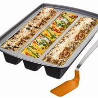 12x15-in. Nonstick Lasagna Edge Trio Pan by Chicago Metallic at Cooking.com