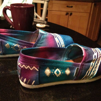Custom Tie Dye and/or painted Toms Shoes