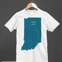 Indiana and Motto-Unisex White T-Shirt