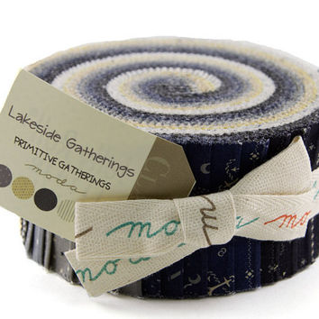 Lakeside Gatherings Jelly Roll by Primitive Gatherings for Moda Fabrics