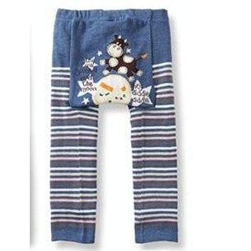 Panty baby Boys and girls cartoon big PP cotton trousers Nine points leggings Fart fart trousers 3PCS/lot mix free shipping