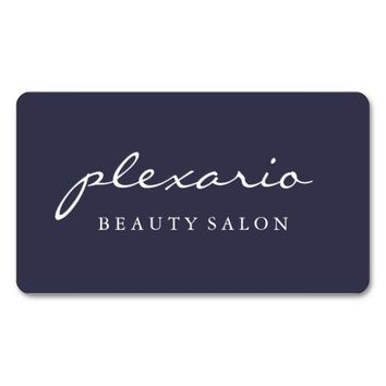 Simple BLUE Modern Beauty Salon Business Card