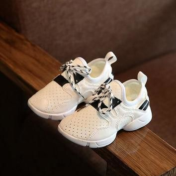 2016 New Autumn Glitter Kids Fit Girl Boy Yeezy Shoes Fashion Sport Shoes Mid-cut Star
