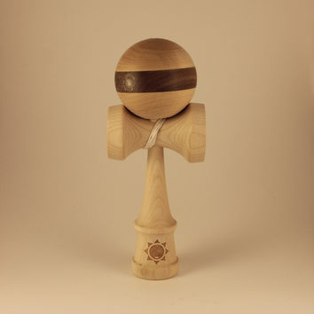 B-Grade Horizontal Walnut Striped Kendamas