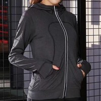 Lululemon Fashion Hooded Sport Cardigan Jacket Coat