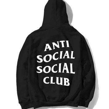 Hot Fashion Antisocial Social Club Hoodie Sweater Coat  Pullovers