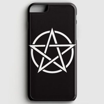 Pentagram Symbol Goth Metal Wiccan Magic iPhone 8 Case