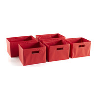 Guidecraft Red Storage Bins - Set of 5 - G89001