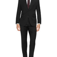 Ben Sherman Men's Monochrome Pinstripe Wool Suit - Black -