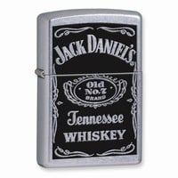 Zippo Jack Daniels Label Street Chrome Lighter - Engravable Gift Item