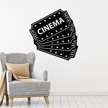 Vinyl Wall Decal Cinema Tickets Movie Film Theater Room Decor Stickers Mural (ig5360)