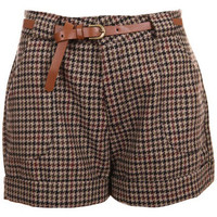 ROMWE | Houndstooth High Waist Shorts, The Latest Street Fashion