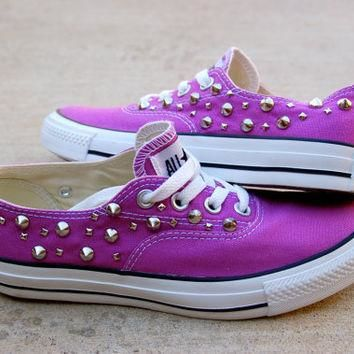 Orchid Studded Converse - The Converse Vans Look-Alike