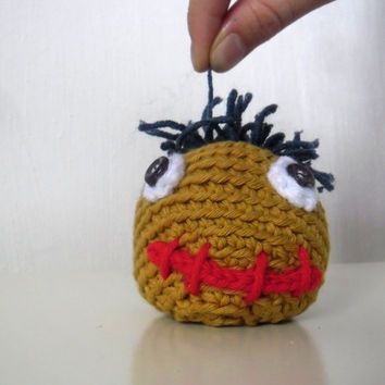 Chunky Hacky Sack Uncle Grass.  Footbag. Bean Bag Crochet. Funky gift. Handmade