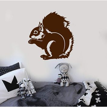 Wall Stickers Vinyl Decal Squirrel Funny Animal For Kids Room Art Decor Unique Gift (ig106)