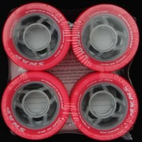 SNAP Pink 91A Roller Derby Skate Wheels (4 Pack) Pink / Grey By Atom Wheels