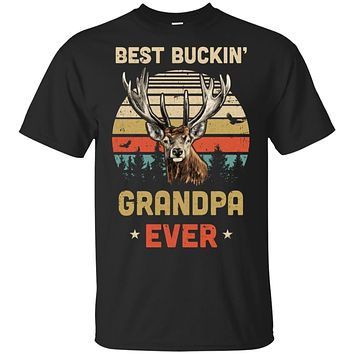 Vintage Best Buckin' Grandpa Ever Gift For Father Day