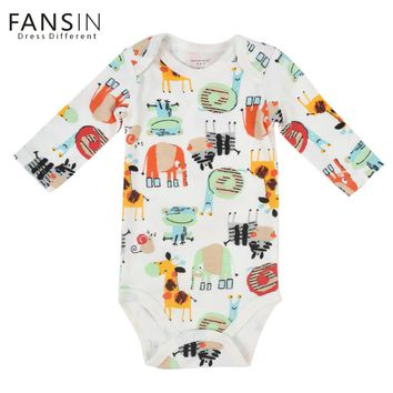 FANSIN Brand Long Sleeve Baby Romper Cute Infant Underwear Winter Newborn Jupsuit Animal Pattern Baby Clothes Infantil Next Body