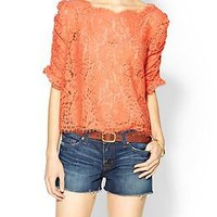 Joie Fanny Scalloped Lace Top | Piperlime