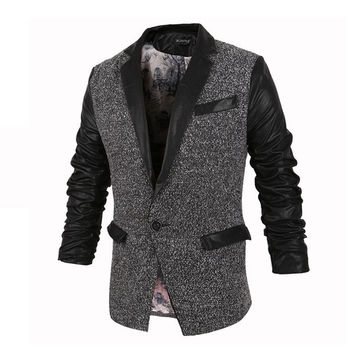 Mens Slim Blazer Jacket
