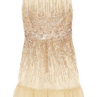 NET-A-PORTER.COM| Red Valentino Sequin-embellished tulle dress