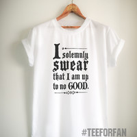 Harry Potter Shirt I Solemnly Swear That I Am Up To No Good Quote T-Shirt