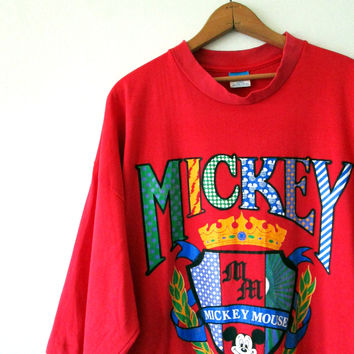Vintage 1980s MICKEY MOUSE Walt DISNEY Oversized Sleep Tee Cover Up T shirt Sz One Size Fits All