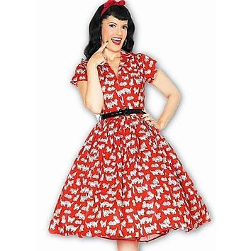 Kelly Red Kitten Dress