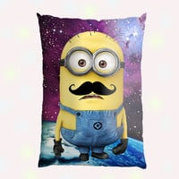 Galaxy Nebula with funny Character Custom Pillow Case - Custom Pillow - One side ( Front Print )