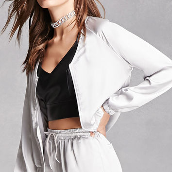 Miss Truth Satin Bomber Jacket